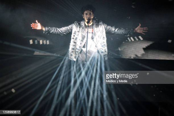 Sebastian Yatra performs during a concert at Auditorio Nacional on February 26, 2020 in Mexico City, Mexico.