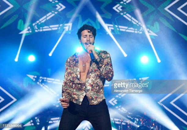Sebastian Yatra performs live on stage during the Spotify ¡Viva Latino! Live on August 30, 2019 in Miami, Florida.