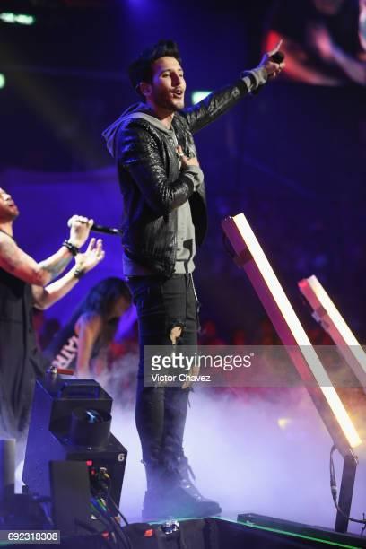Sebastian Yatra performs on stage during the MTV MIAW Awards 2017 at Palacio de Los Deportes on June 3, 2017 in Mexico City, Mexico.