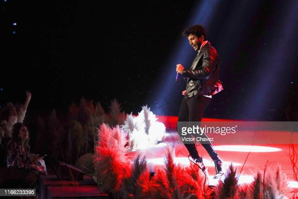 Sebastian Yatra performs on the runway during the Liverpool Fashion Fest Fall/Winter 2019 at Quarry Studios on September 5 2019 in Mexico City Mexico
