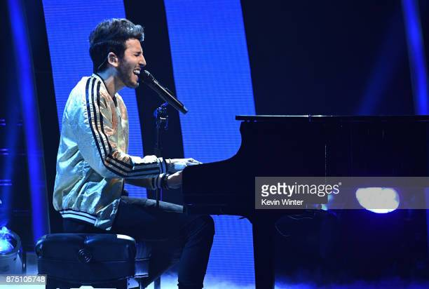 Sebastian Yatra performs onstage at the 18th Annual Latin Grammy Awards at MGM Grand Garden Arena on November 16 2017 in Las Vegas Nevada