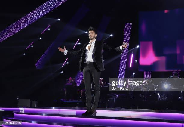 Sebastian Yatra performs onstage at the Person of the Year Gala honoring Mana during the 19th annual Latin GRAMMY Awards at the Mandalay Bay Events...