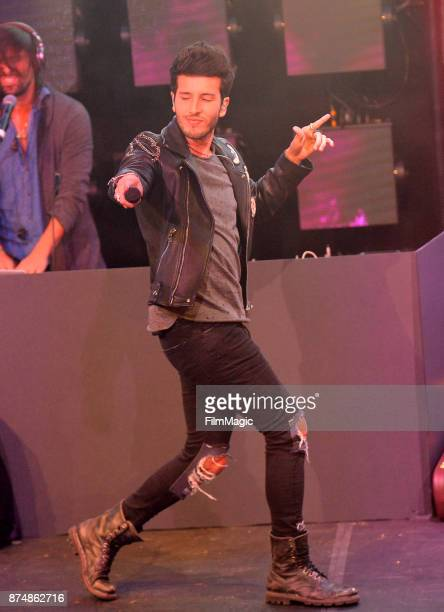 Sebastian Yatra performs onstage at YouTube Musica sin fronteras A Celebration of Latin Music at Jewel Nightclub at the Aria Resort & Casino on...