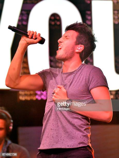 Sebastian Yatra performs onstage at YouTube Musica sin fronteras A Celebration of Latin Music at Jewel Nightclub at the Aria Resort Casino on...