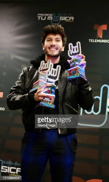 Sebastian Yatra poses in the press room during Premio Tu Musica at Coliseo Jose Miguel Agrelot on March 5 2020 in San Juan Puerto Rico