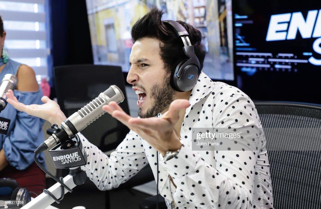 Sebastian Yatra visits 'The Enrique Santos Show' at I Heart Latino Studios on May 16, 2018 in Miramar, Florida.