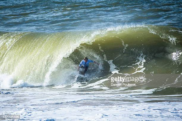Sebastian Zietz of Hawaii surfs during heat 1 of Moche Rip Curl Pro on October 14 2014 in Peniche Portugal