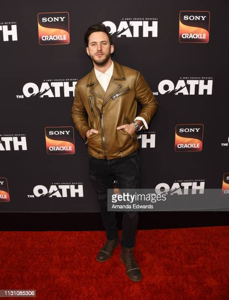 Sebastian Zurita arrives at Sony Crackle's 'The Oath' Season 2 exclusive screening event at Paloma on February 20 2019 in Los Angeles California