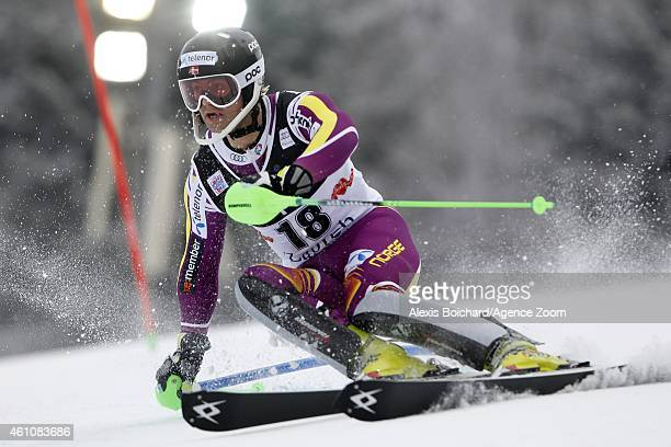 SebastianFoss Solevaag of Norway competes during the Audi FIS Alpine Ski World Cup Men's Slalom on January 06 2015 in Zagreb Croatia