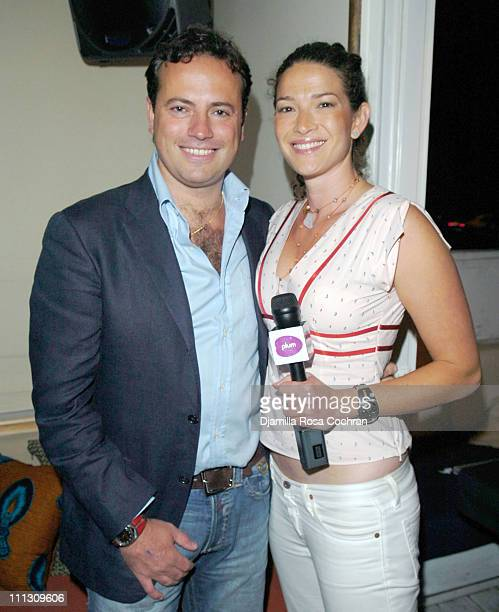 Sebastiano Di Bari and Alli Joseph during Pirelli Watches and Hamptons Magazine Host the Golf Classic Party at Cain in Southampton, NY, United States.