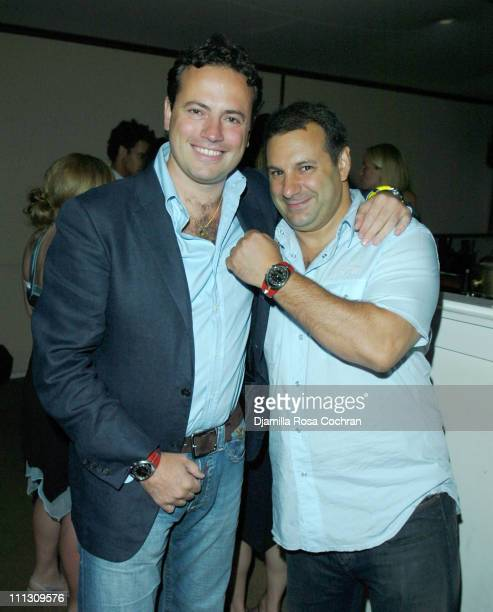 Sebastiano Di Bari and Venanzio Ciampa during Pirelli Watches and Hamptons Magazine Host the Golf Classic Party at Cain in Southampton, NY, United...