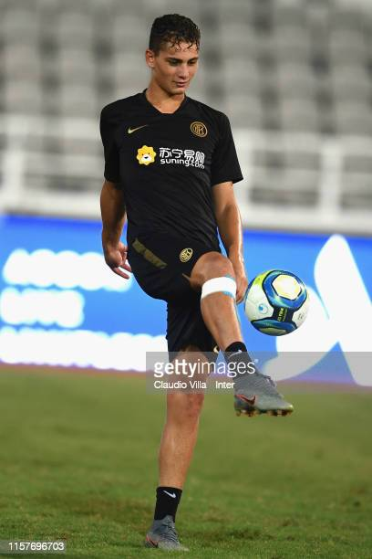 Sebastiano Esposito of FC Internazionale in action during a training session on July 26 2019 in Macau