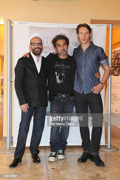 Sebastiano Filocamo Federico Brugia and Benn Northover attend Tutti i rumori del mare photocall at AnteoSpazioCinema on July 25 2012 in Milan Italy