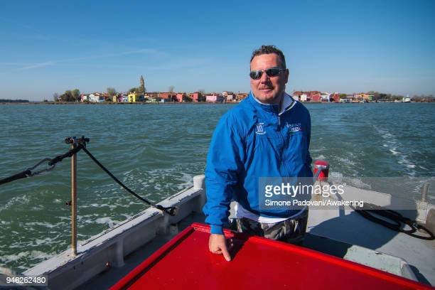Sebastiano leave Burano to reach the tourists at Treporti for a tour of fishing tourism organized by Cooperativa San Marco in Burano on April 14 2018...