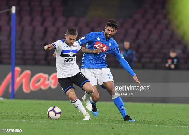 Sebastiano Luperto during the Serie A match between SSC Napoli and Atalanta BC at Stadio San Paolo on April 22 2019 in Naples Italy