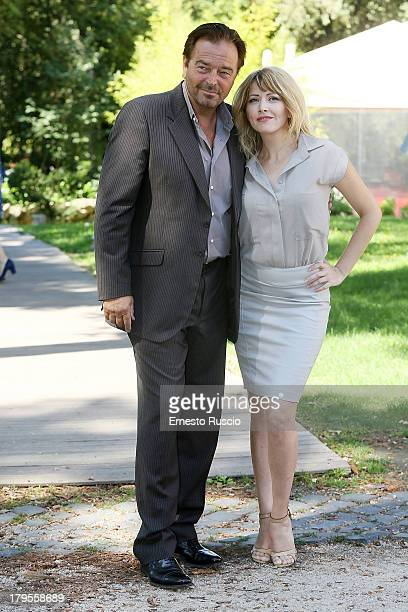 Sebastiano Somma and Loredana Cannata attend the Un Caso Di Coscienza 5 photocall at Casa del Cinema on September 5 2013 in Rome Italy