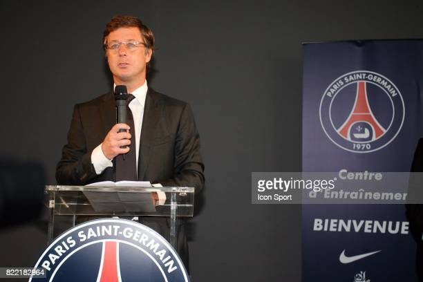 Sebastien BAZIN Inauguration du Nouveau Centre d'entrainement du PSG Saint Germain en Laye Camp des Loges