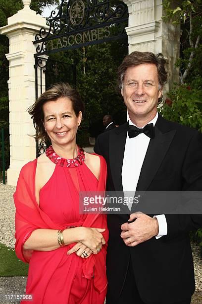 Sebastien Bazin and his wife attend 'La Fete de la Fleur' at Chateau de Lascombes on June 23 2011 in Margaux France