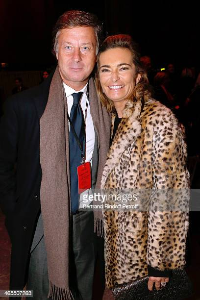 Sebastien Bazin and Miss Nicolas Bazire attend the 'Nuit De La Chine' Opening Night at Grand Palais on January 27 2014 in Paris France