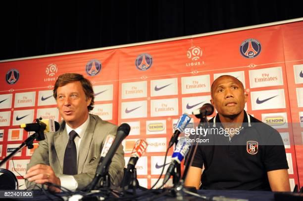 Sebastien BAZIN / Antoine KOMBOUARE Presentation du nouvel entraineur du Psg au Parc des Princes