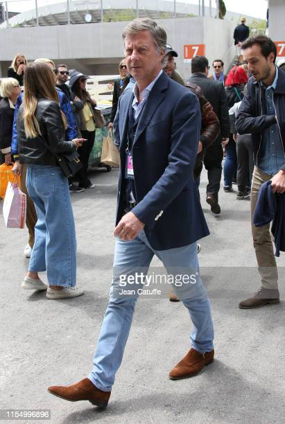 Sebastien BazinCEO of Accor Group attends the men's final during day 15 of the 2019 French Open at Roland Garros stadium on June 9 2019 in Paris...