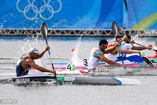 Sebastien Beaumont of France during the Men's 200m kayak Single at the the Lagoa Stadium on the fifteenth day of the Rio Olympic Games Brazil