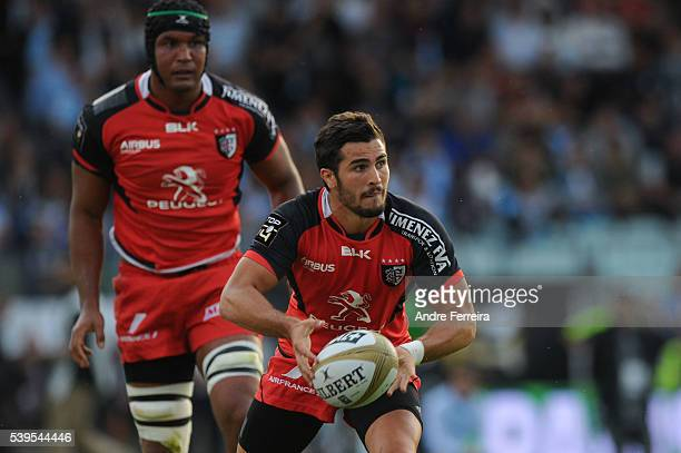 Sebastien Bezy of Toulouse during the Playoff Top 14 match between Racing 92 and Toulouse at Stade Yves Du Manoir on June 11 2016 in Paris France