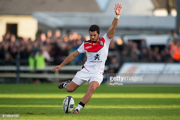 Sebastien Bezy of Toulouse kicks penalty during the European Rugby Champions Cup Pool 2 match between Connacht Rugby and Stade Toulousain at the...