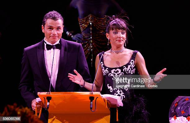 Sebastien Borgnat and Erika Moulet attend the 61st Monaco Red Cross Ball at the Monte Carlo Sporting Club on July 31 2009 in Monaco