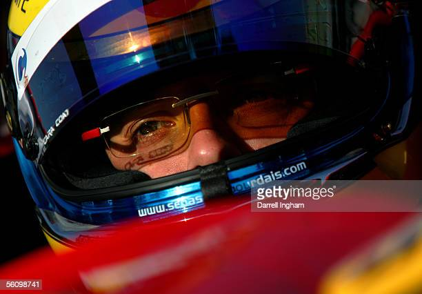 Sebastien Bourdais driver of the McDonald's Newman Haas Racing Lola Ford Cosworth during practice for the ChampCar World Series Gran Premio...