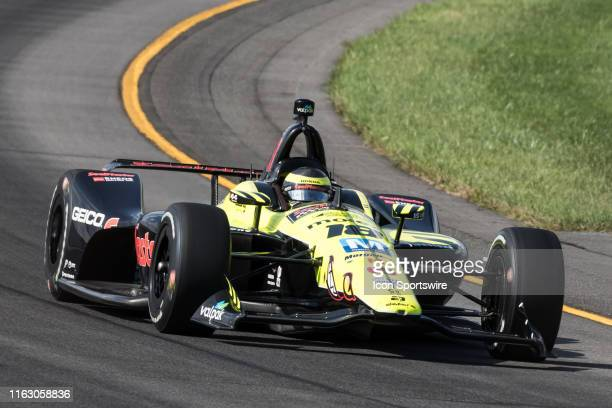 Sebastien Bourdais driver of the SealMaster Honda during the ABC Supply 500 on August 18 at Pocono Raceway in Long Pond PA