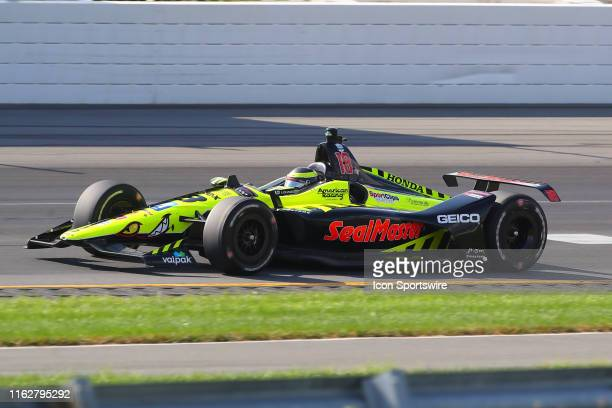 Sebastien Bourdais driver of the SealMaster Honda during the IndyCar Series ABC Supply 500 on August 18 2019 at Pocono Raceway in Long Pond Pa