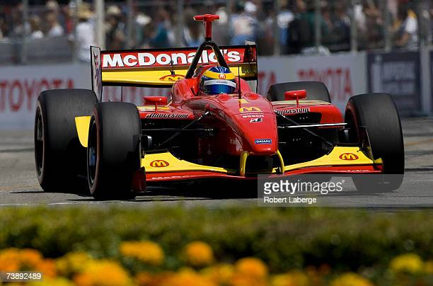 Sebastien Bourdais drives the Newman Haas Lanigan Racing Panoz DP01 on his way to winning the ChampCar World Series Toyota Grand Prix of Long Beach...