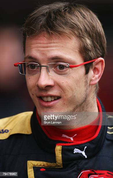 Sebastien Bourdais of France and Toro Rosso waits to test during Formula One Testing at the Circuit de Catalunya, on February 2, 2008 in Barcelona,...