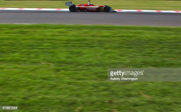 Sebastien Bourdais of France drives during practice and qualifying for the CART series GP at the Autodromo Hermanos Rodriguez November 6 2004 in...