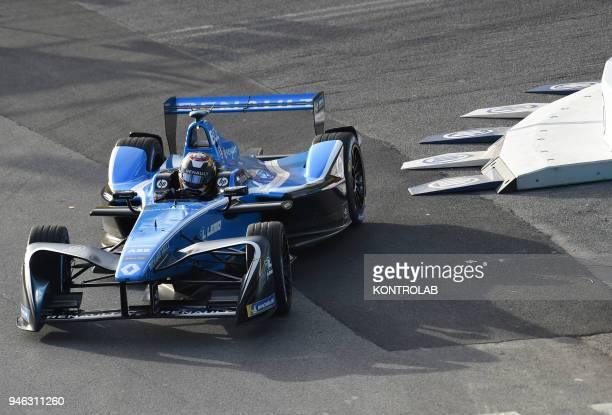 EUR DISTRICT ROME LAZIO ITALY Sebastien Buemi of Renault edams Team runs during the free practice of FIA Rome EPrix the first Formula E race in Italy