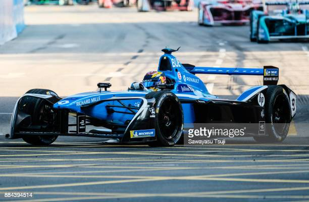 Sebastien Buemi of Switzerland and Renault edams competes during the FIA Formula E Hong Kong 2017 EPrix Round 1 at the Central Harbourfront Circuit...