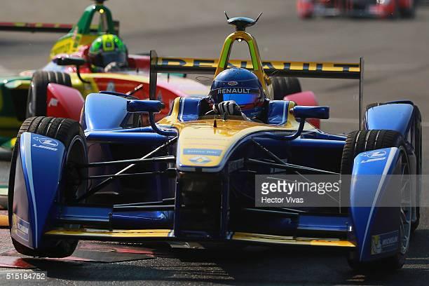 Sebastien Buemi of Switzerland and Renault e.Dams during the Mexico City Formula E Championship 2016 at Autodromo Hermanos Rodriguez on March12, 2016...