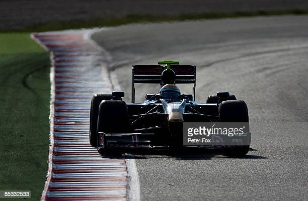 Sebastien Buemi of Switzerland and team Toro Rosso in action during formula one testing at the Circuit de Catalunya on March 10, 2009 in Barcelona,...