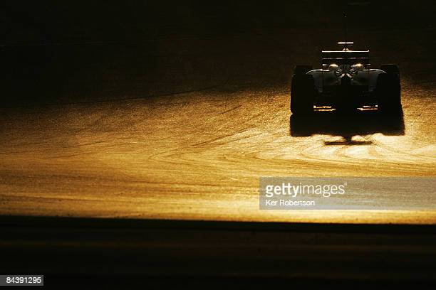 Sebastien Buemi of Switzerland and Toro Rosso drives during Formula One winter testing at the Autodromo Internacional do Algarve on January 21 2009...