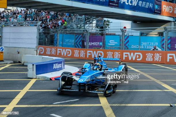 Sebastien Buemi of Switzerland from Renault edams competes during the FIA Formula E Hong Kong 2017 EPrix Round 1 at the Central Harbourfront Circuit...