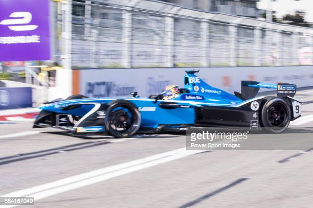 Sebastien Buemi of Switzerland from Renault edams competes in the Formula E NonQualifying Practice 2 during Formula E on December 2 2017 in Hong Kong...