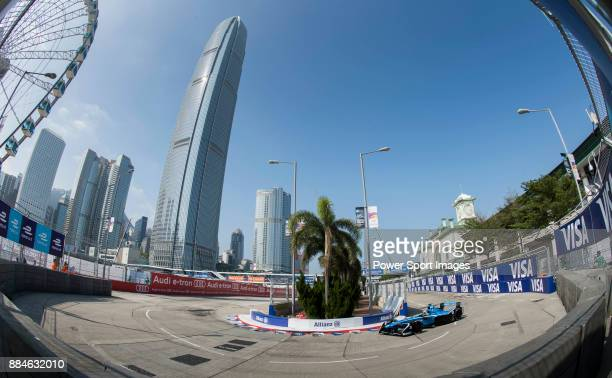 Sebastien Buemi of Switzerland from Renault edams competes in the Formula E Qualifying Session 2 during the FIA Formula E Hong Kong EPrix Round 2 at...