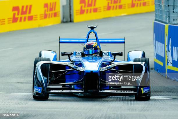 Sebastien Buemi of Switzerland from Renault edams Formula E Team competes during the FIA Formula E Hong Kong 2017 EPrix Round 2 at the Central...