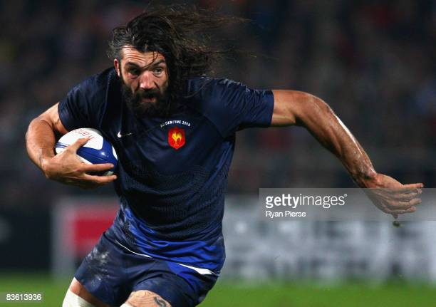Sebastien Chabal of France in action during the International Friendly between France and Argentina at Stade Velodrome on November 8 2008 in...