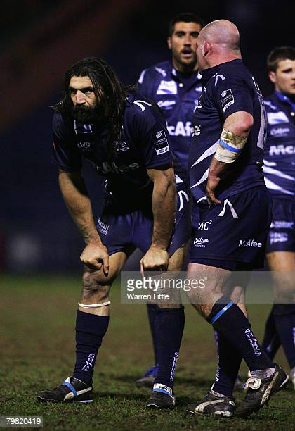 Sebastien Chabel of Sale looks on during the Guinness Premiership match between Sale Sharks and Leeds Carnegie at Edgeley Park on February 15, 2008...