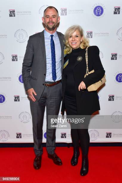 Sebastien Clarke and Christina Japp attend Appraisers Association of America Honors Hans Ulrich Obrist at 14th Annual Award Luncheon at New York...