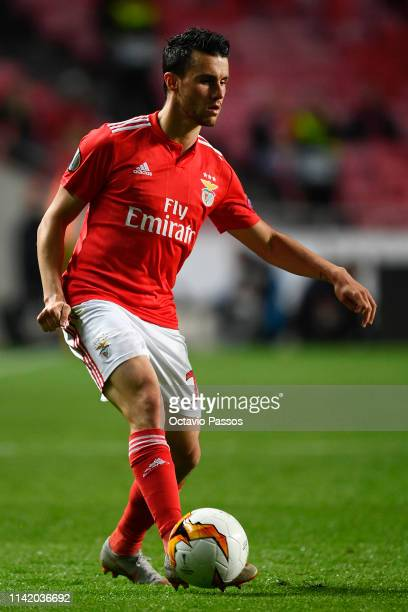 Sebastien Corchia of Benfica in action during the UEFA Europa League Quarter Final First Leg match between Benfica and Eintracht Frankfurt at Estadio...