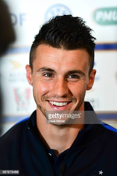 Sebastien Corchia of France during the press conference at the Centre National du Football on August 29 2016 in Clairefontaine France
