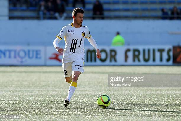 Sebastien Corchia of Lille during the French Ligue 1 match between Fc Lorient and Lille OSC at Stade du Moustoir on April 30, 2016 in Lorient, France.